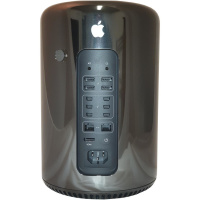 Apple Mac Pro 6.1 - A1481 Ende 2013 | Intel HexaCore 6 Kern Intel Xeon E5-1650 v2 3,5 GHz | 32GB RAM | 500GB NVMe SSD | 2 x AMD Firepro D300 | macOS Big Sur | Silber