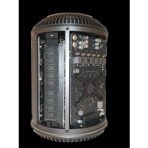Apple Mac Pro 6.1 - A1481 Ende 2013   Intel DodecaCore 12 Kern Xeon E5-2697 v2 2,70GHz   64GB RAM   1 TB NVMe SSD   2 x AMD Firepro D500   macOS Big Sur   Gold