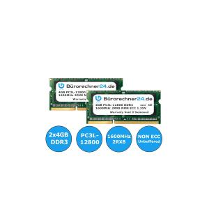 Bürorechner24.de 8GB Kit DDR3 SODIMM Laptop-RAM | 2...
