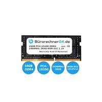 Bürorechner24.de 16GB DDR4 SODIMM Laptop-RAM | PC4-19200 | 2400MHz 2RX8 | NON ECC | 1,2V