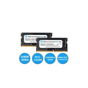 Bürorechner24.de 16GB Kit DDR4 SODIMM Laptop-RAM | 2...