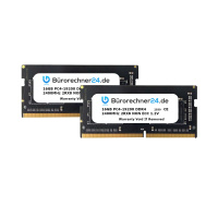 Bürorechner24.de 32GB Kit DDR4 SODIMM Laptop-RAM   2 x 16GB   PC4-19200   2400MHz 2RX8   NON ECC   1,2V