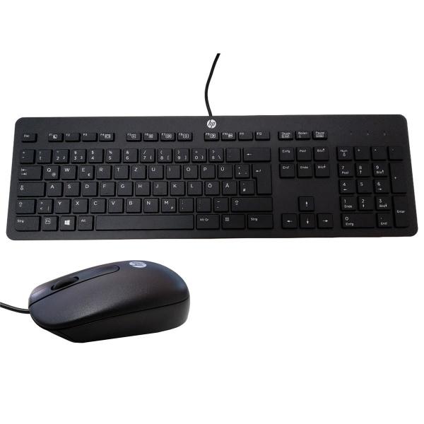 HP Optische Maus und Tastatur | Kabelgebunden | Schwarz