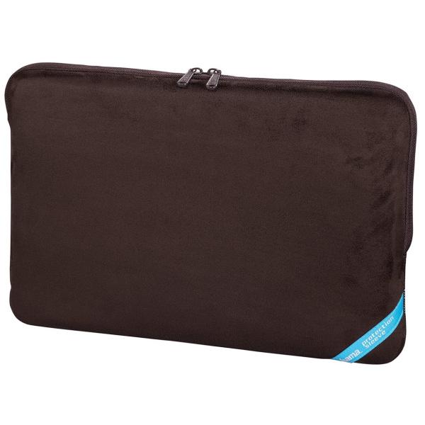 Hama Velour Notebook-Sleeve bis 40 cm (15,6 Zoll) 101209 braun